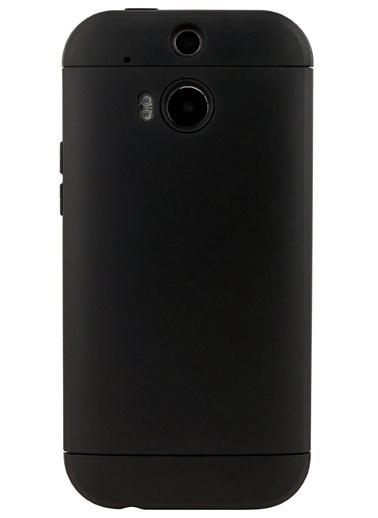 Microsonic Slim Fit Dual Layer Armor Htc One M8 Kılıf Siyah Renkli